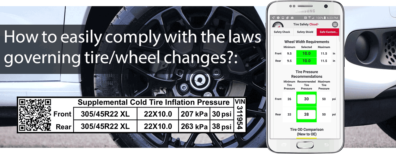 Tire Safety Cloud - How to easily comply with the regulations governing tire/wheel changes.